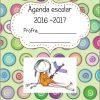 """Maravillosa agenda """"hablando sola"""" del ciclo escolar 2016 – 2017"""