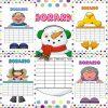 Bonitos y creativos horarios de clases