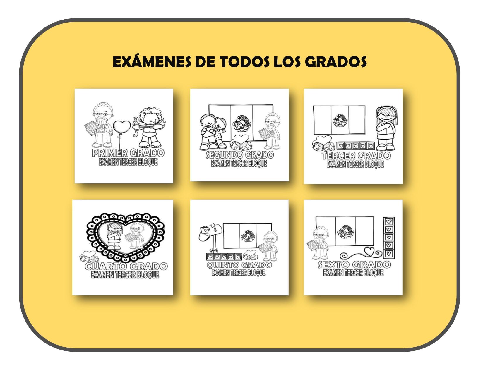 Ex menes de todos los grados del tercer bloque del ciclo for Examen para plazas docentes 2017