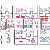 Lindos rompecabezas de la tabla del 2 y 3