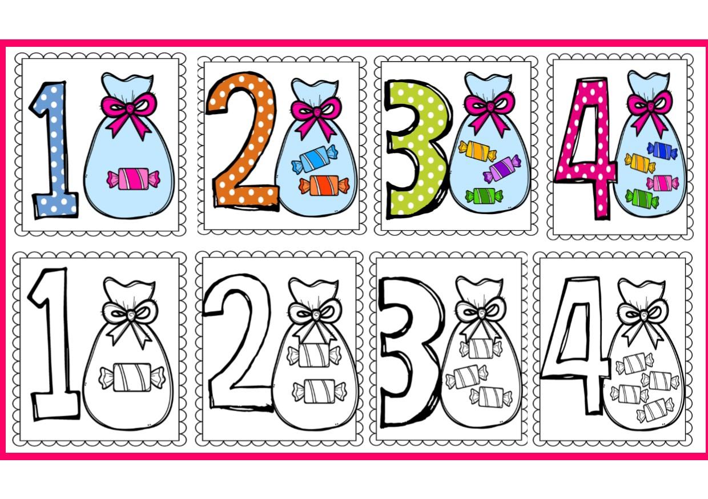 Dibujos Para Colorear Con Numeros Del 1 Al 10: Excelentes Diseños De Números Del 1 Al 10