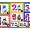 Fabulosos diseño de números con su cantidad para preescolar y primer grado de primaria