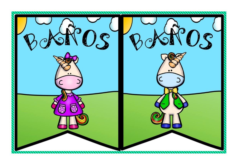 Bonitos letreros para baños de niñas y niños   Didáctica ...