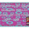 Planeaciones del segundo bloque de todos los grados del ciclo escolar 2017 – 2018