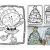 Maravillosos dibujos navideños para colorear y pegar bolitas de papel y trabajar la grafomotricidad