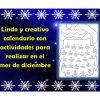Lindo y creativo calendario con actividades para realizar en el mes de diciembre