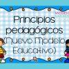 Principios pedagógicos del nuevo modelo educativo