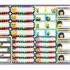 Excelentes etiquetas coloridas de emojis, piratas, ksi-meritos y los minions